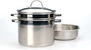 8 qt Multi cooker, Glass lid