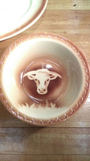 Short Horn Steer #113 Nappie Bowl