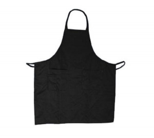 "Bib Apron, Black, 2 8""x8"" side pockets"