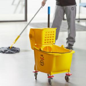 36 qt Yellow Mop bucket & Wringer Combo