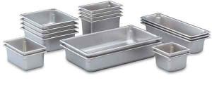 "Full size 6"" deep steam table pan, 22 gauge"