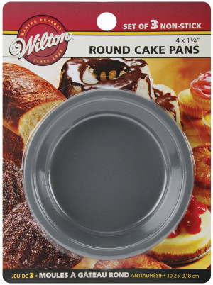"4"" Non-stick Cake Pan, Set of 3"
