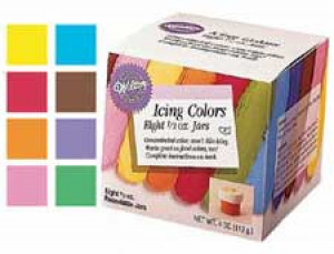 8 Icing color kit, .5 oz, Food color