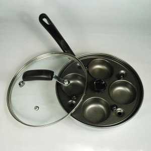 4 Egg poacher, glass lid