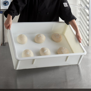 Dough retarding box, 18x26x6, White ABS