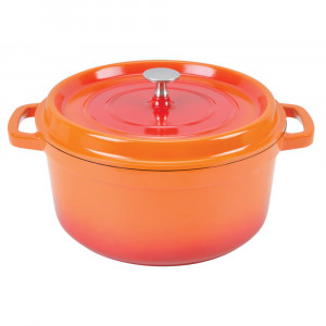 4.5 qt. round dutch oven, flame orange