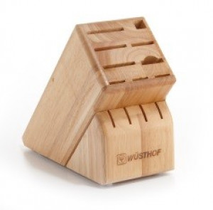 13 slot knife block, rubberwood