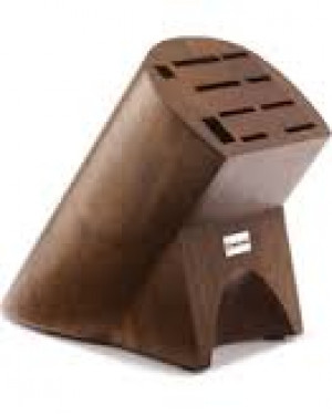 Burmese 10 slot knife block, dark brown