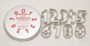 Numbers cutter set