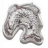 "Curved fish mold, 10"" Tin"