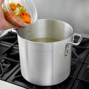 Stock pot, Aluminum, 12 qt