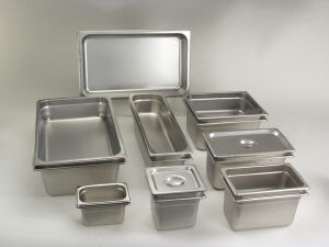 "Full size 2.5"" deep steam table pan"