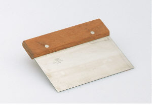 Dough scraper, Wood handle