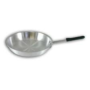 "12"" Natural Aluminum Fry Pan, Made in the USA"