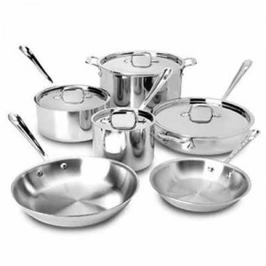 10 pc Stainless cookware set