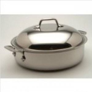 4 qt Sauteuse w/Domed lid, Stainless