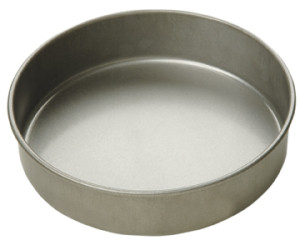 "9"" round x 2"" deep cake pan, Aluminized steel"