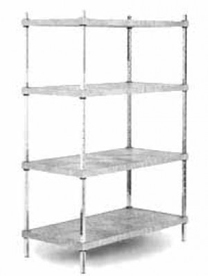 "Wire shelf post 72"", chrome square"