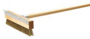 "Oven Brush, 36"" wood handle, 10"" wide"