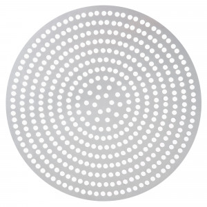 "Pizza disk, 14"" Perforated, Aluminum"