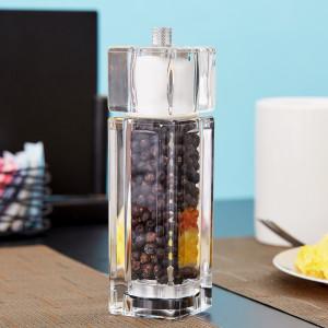 Acrylic pepper mill & salt shaker combo