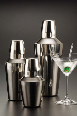 Small Cocktail Shaker, 3 piece set, S/S, 8 oz