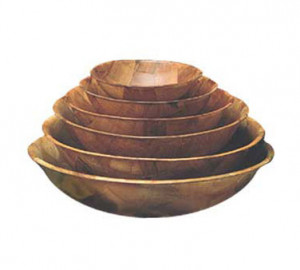 "Salad Bowl, woodweave, 6"" diameter"