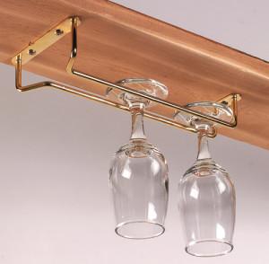 """Glass Hanger, 10"""" chrome"""