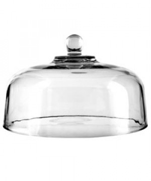 "Glass cake dome, 11-3/8"" diameter"