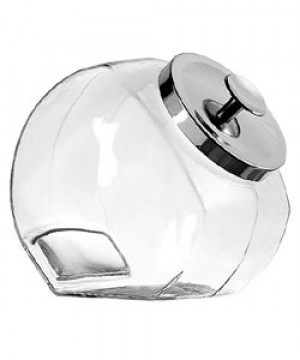 1 gallon Penny candy jar w/ Chrome cover
