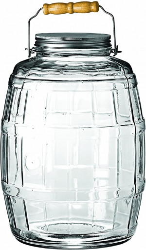 2.5 gal Glass barrell jar w/ Cover