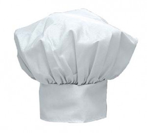 "Deluxe chef hat, 13"", Closed weave, adjustable"