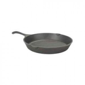 "Cast iron skillet, 14"", pre-seasoned"
