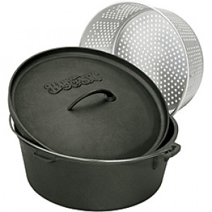Cast iron 8.5 qt. dutch oven w/ lid and insert