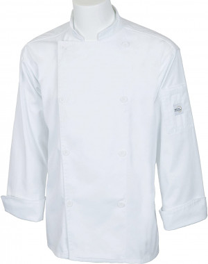 Classic Chef Coat, Large Double breasted, white