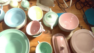 Lu-RAY Pastels Covered Butter Dish