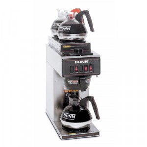 Coffee Brewer, 1 lower & 2 upper burners, S/S