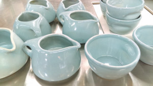 Russell Wright Ice Blue Sugar & Creamer