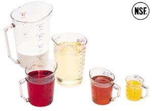Plastic measuring cup, 2 qt, Clear, NSF