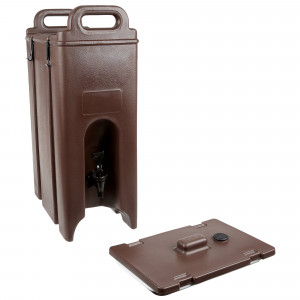 5 gallon insulated beverage dispenser, Brown