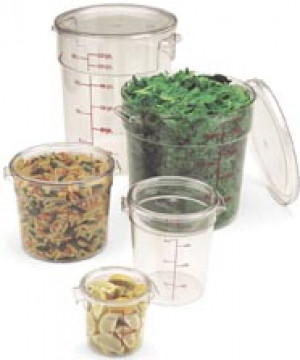 Round Clear Cover for 2 & 4 qt food containers