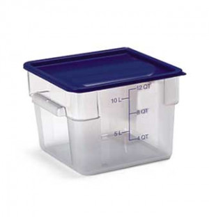 12 qt square food storage container, clear