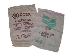 Coffee bean burlap bag
