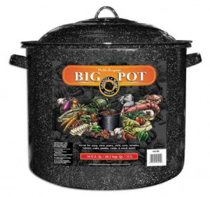 21 qt Covered stock pot