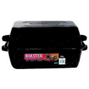Roaster, Rectangular, 22# Poultry, 25# Roast, Blac