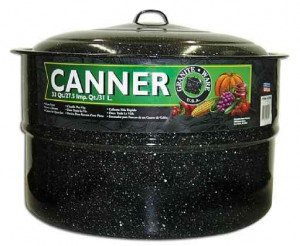 Canner, 33 qt, Black Canning pot