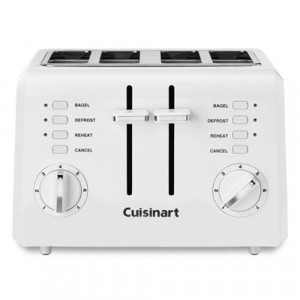 4 slice Compact white toaster