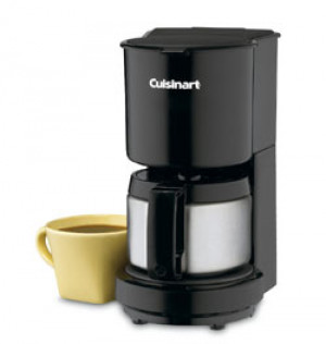 4 cup Coffee maker with S/S carafe, Black