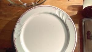 "Shenango China Ravenna 10.75"" Dinner Plate"