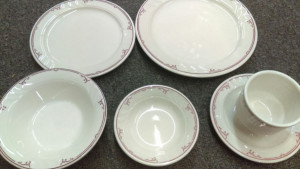 "Shenango China Ravenna 9.25"" dinner plate"